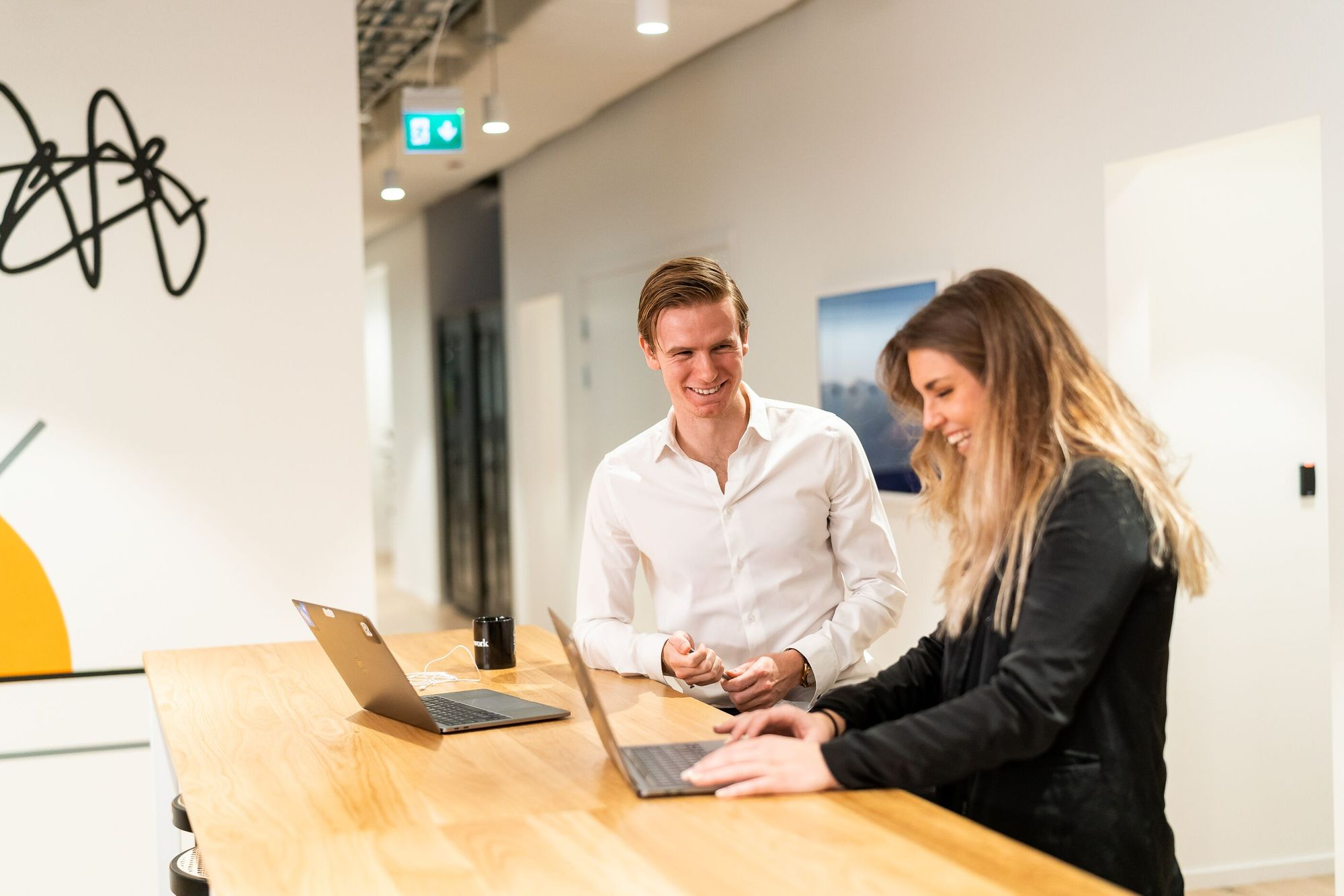 Hanna and Lasse in our Stockholm office.